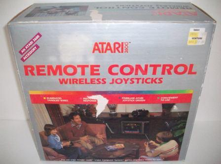 Remote Control Wireless Joysticks (CIB) - Atari 2600 Accessory