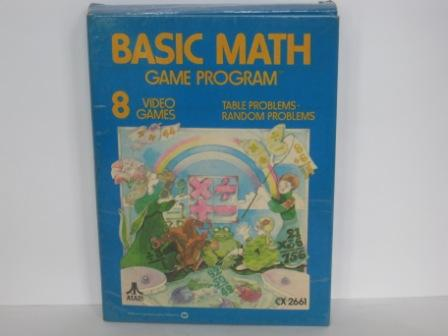 Basic Math (#61 - Gatefold) (BOX & MANUAL ONLY) - Atari 2600