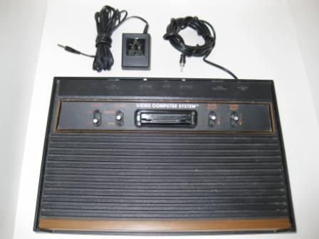 Atari 2600 Woodgrain System w/ Power Supply