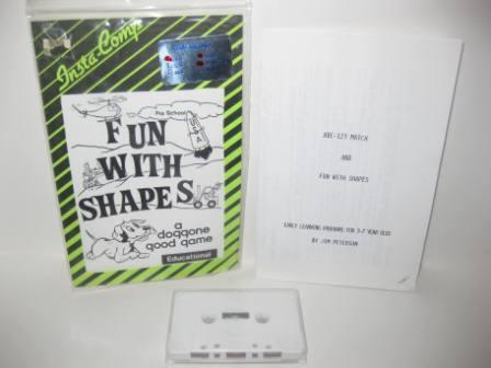 ABC-123 Match & Fun With Shapes (Cassette) - Atari 400/800 Game