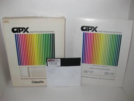 APX Video Math Flashcards (Diskette) (CIB) - Atari 400/800 Game