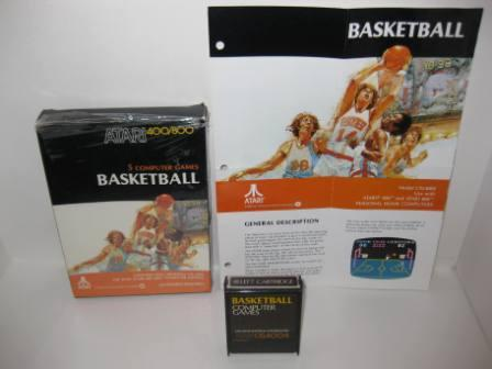 Basketball (Cartridge) (CIB) - Atari 400/800 Game