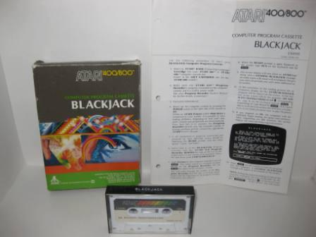 Blackjack (Cassette) (CIB) - Atari 400/800 Game