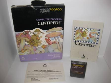 Centipede (Cartridge) (CIB) - Atari 400/800 Game