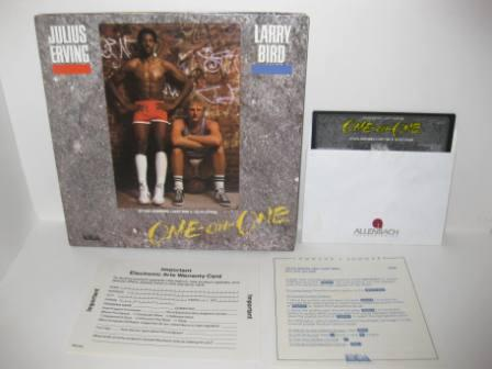 Erving/Bird Go One-on-One (Diskette) (CIB) - Atari 400/800 Game