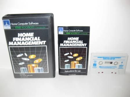 Home Financial Management (Cassette) (CIB) - Atari 400/800 Game