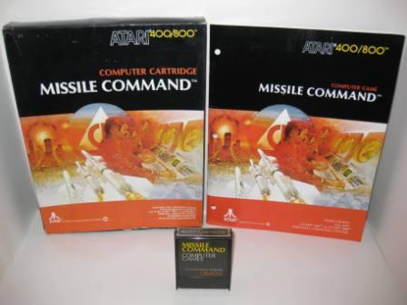 Missile Command (Cartridge) (CIB) - Atari 400/800 Game