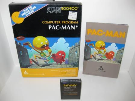 Pac-Man (Cartridge) (CIB) - Atari 400/800 Game