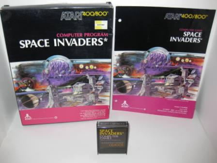 Space Invaders (Cartridge) (CIB) - Atari 400/800 Game
