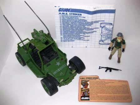 A.W.E. Striker (1985) w/ Inst, Driver, Card - G.I. Joe