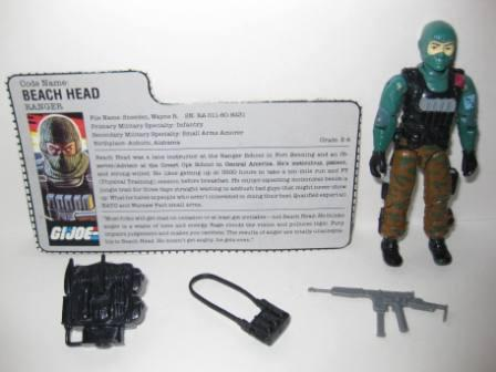 Beach Head (1986) w/ Card - G.I. Joe