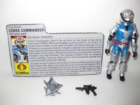 Cobra Commander (1987) w/ Card - G.I. Joe