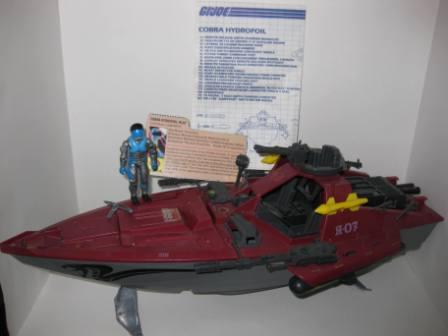 Cobra Moray Hydrofoil (1985) w/ Inst, Driver, Card - G.I. Joe