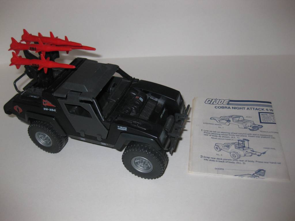Cobra Stinger Night Attack 4-WD (1984) w/ Inst - G.I. Joe