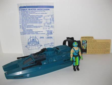 Cobra Water Moccasin (1984) w/ Inst, Pilot Copperhead - G.I. Joe