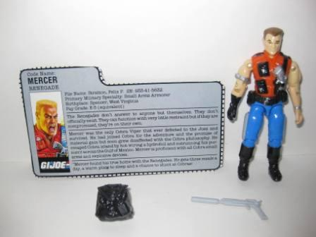 Mercer (1987) w/ Card - G.I. Joe