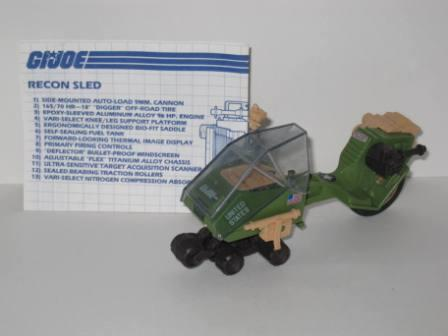 L.C.V.  Recon Sled (Low Crawl Vehicle) (1986) w/ Inst - G.I. Joe