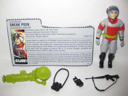 Sneak Peek (1987) w/ Card - G.I. Joe