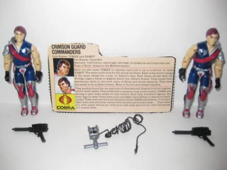 Tomax and Xamot (1985) w/ Card - G.I. Joe