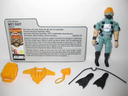 Wet-Suit (1986) w/ Card - G.I. Joe