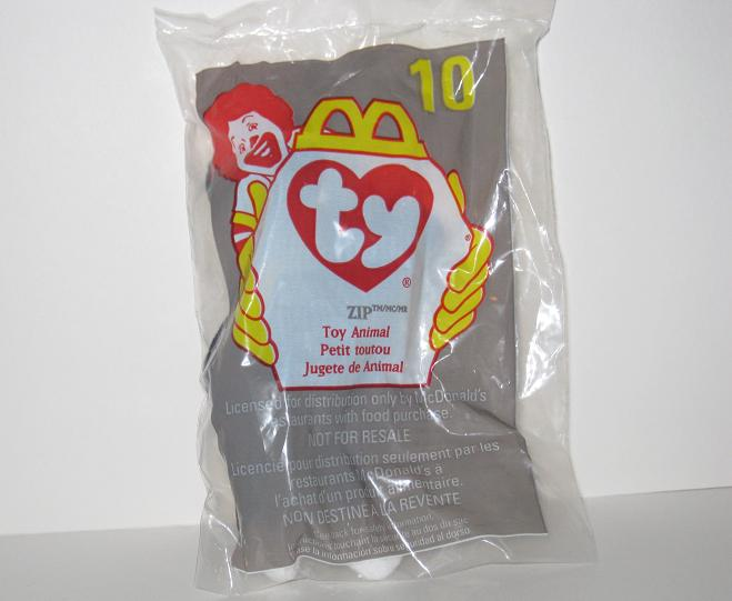 1998 McDonalds - #10 Zip - Teenie Beanie