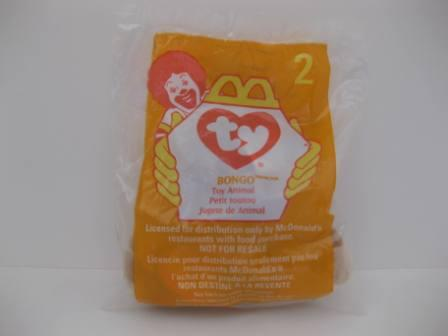 1998 McDonalds - #2 Bongo (SEALED) - Teenie Beanie