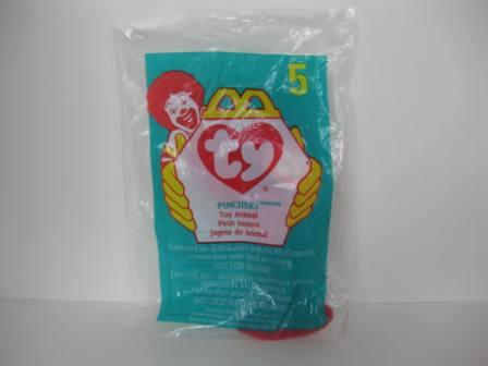 1998 McDonalds - #5 Pinchers - Teenie Beanie (SEALED)