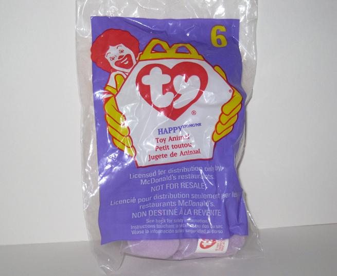 1998 McDonalds - #6 Happy - Teenie Beanie
