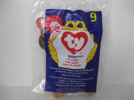 1998 McDonalds - #9 Bones - Teenie Beanie (SEALED)