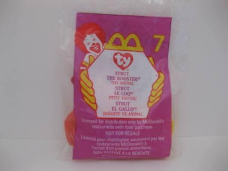 1999 McDonalds - #7 Strut (SEALED) - Teenie Beanie
