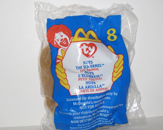1999 McDonalds - #8 Nuts (SEALED) - Teenie Beanie