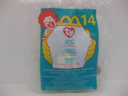 2000 McDonalds - #14 Coral (SEALED) - Teenie Beanie