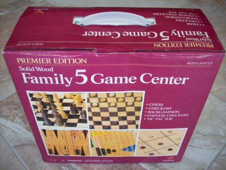 Solid Wood Family 5 Game Center - Board Game