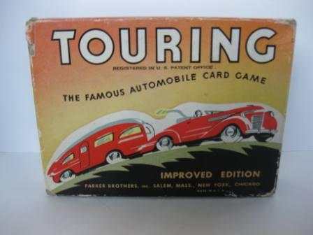 Touring (1947) The Famous Automobile Card Game - Board Game