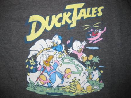 Duck Tales (Dark Grey) - L Shirt