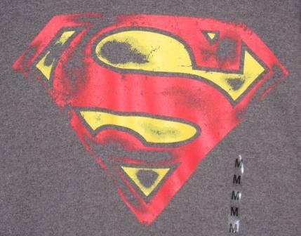 Superman Shield (Grey) - M Shirt