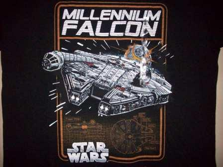 Star Wars - Millennium Falcon (Black) - M Shirt
