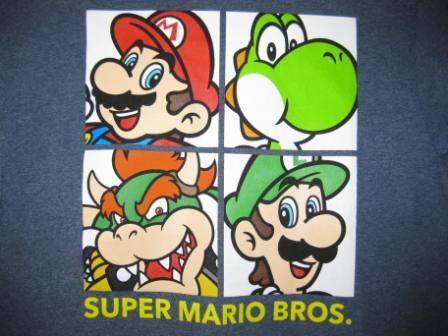 Super Mario Bros. (Blue) - M Shirt