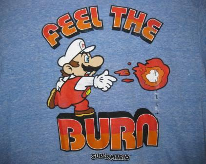 Super Mario: Feel the Burn (Blue) - L Shirt