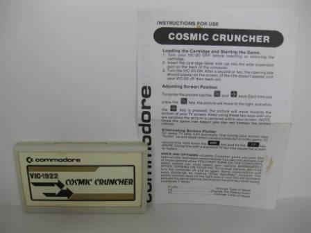 VIC-1922 Cosmic Cruncher (w/ Manual) - Vic-20 Game