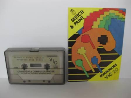 Sketch & Paint (Cassette) (w/ Manual) - Vic-20 Game