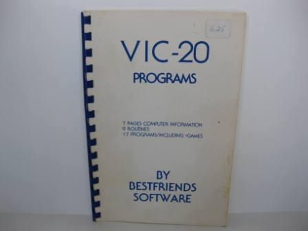 VIC-20 Programs (Programming Book) - Vic-20 Manual
