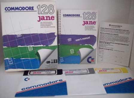 Jane Wordprocessor/Spreadsheet/Filing (CIB) - Commodore 128 Game