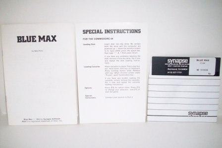 Blue Max w/ Manual (No Box) - Commodore 64 Game
