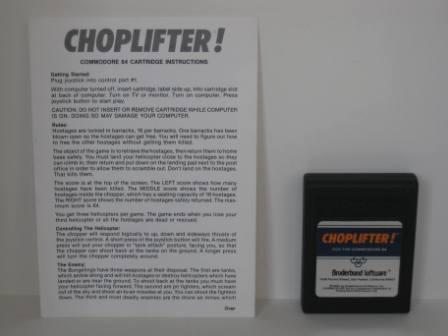 Choplifter! w/ Manual (Cart) (No Box) - Commodore 64 Game