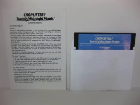 Choplifter! w/ Manual (Floppy Disk) - Commodore 64/128 Game