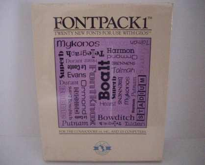 Fontpack1: New Fonts for GEOS (SEALED) - Commodore 64/128 Game