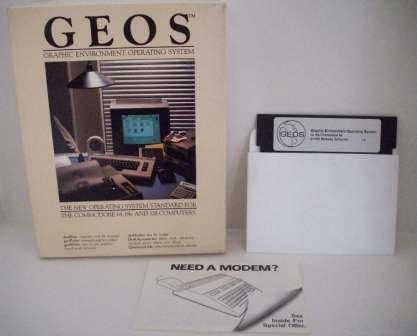 GEOS: Graphic Environment OS (CIB) - Commodore 64/128 Game