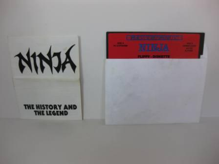 Ninja w/ Manual (Floppy Disk) - Commodore 64/128 Game