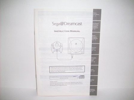 Dreamcast System Instruction Manual - Dreamcast Manual